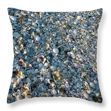 Throw Pillow featuring the photograph Sand Key Shells by David Nicholls