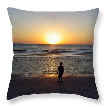 Throw Pillow featuring the photograph Sand Key Sunset by David Nicholls
