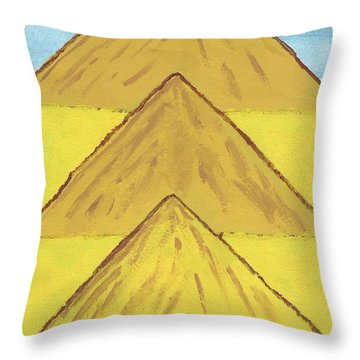 Throw Pillow featuring the painting Sand Mountains by Tracey Williams