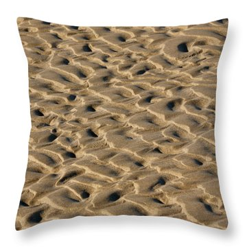 Sand Patterns Throw Pillow by Art Block Collections