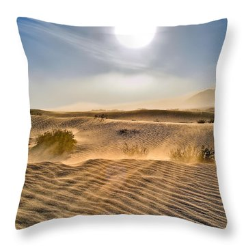 Sand Storm In The Mesquite Dunes 2 Throw Pillow