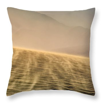 Sand Storm In The Mesquite Dunes Throw Pillow