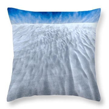 Sand Storm On The Horizon Throw Pillow