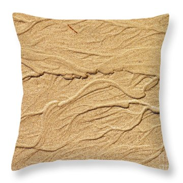 Sand Texture 3 Throw Pillow