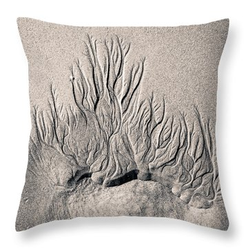 Sand Trails Throw Pillow