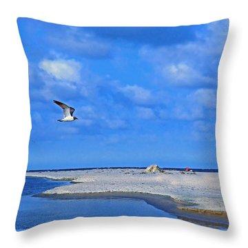 Sandbar Bliss Throw Pillow by Marie Hicks