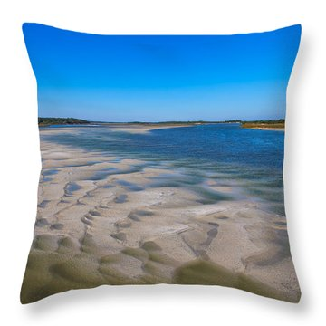 Sandbars On The Fort George River Throw Pillow