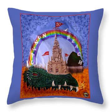 Throw Pillow featuring the photograph Sandcastle Shirt by Wendy McKennon