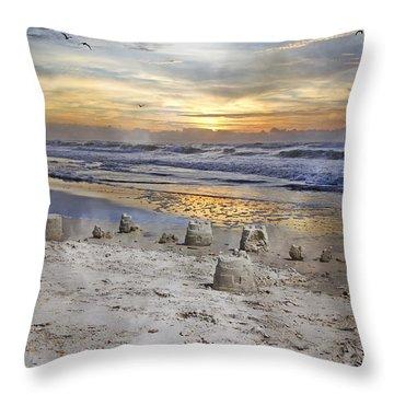 Sandcastle Sunrise Throw Pillow