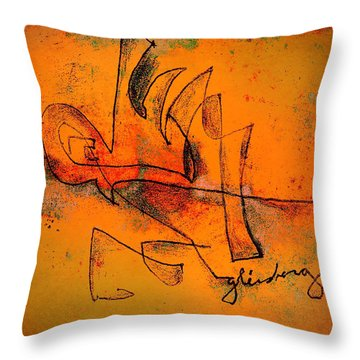 Sandcastles At Sunset Throw Pillow