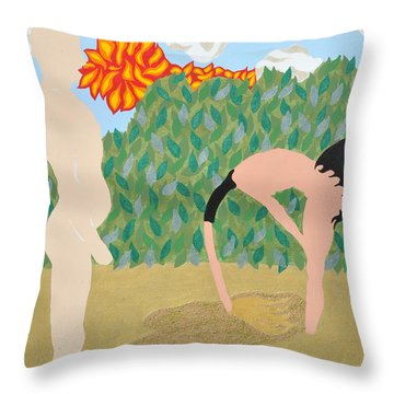 Throw Pillow featuring the painting Sanded by Erika Chamberlin