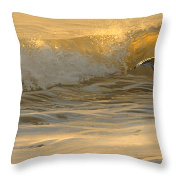 Sanderlings Throw Pillow by Aaron Blaise