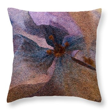 Throw Pillow featuring the photograph Sandflower 2 by WB Johnston
