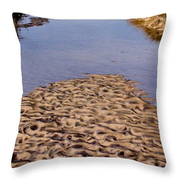 Sandform At Sand Hook Throw Pillow by Gary Slawsky