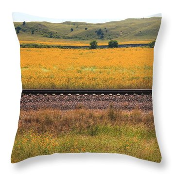 Sandhill Sunflowers Throw Pillow