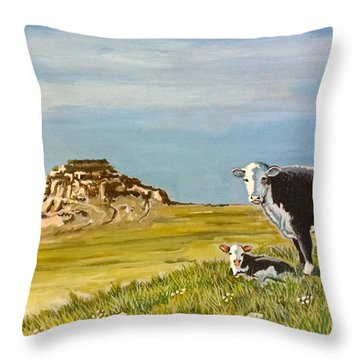 Sandhills Spring Throw Pillow
