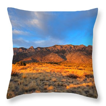 Sandia Crest Sunset Throw Pillow by Alan Vance Ley