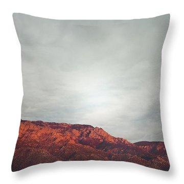 Sandia Watermelon Mountain Throw Pillow by Andrea Hazel Ihlefeld