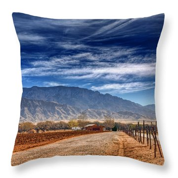 Sandias In My Backyard Throw Pillow