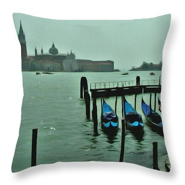 Throw Pillow featuring the photograph Sanding By by Brian Reaves