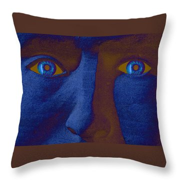 Sandman Throw Pillow by Richard Farrington