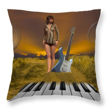 Sands Of Music Throw Pillow