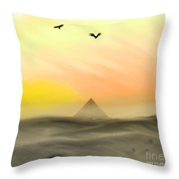 Sands Of Time Throw Pillow by Thomas OGrady