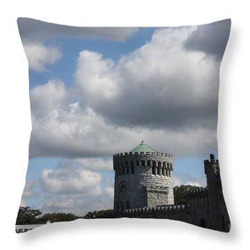 Sands Point Castle Throw Pillow by John Telfer