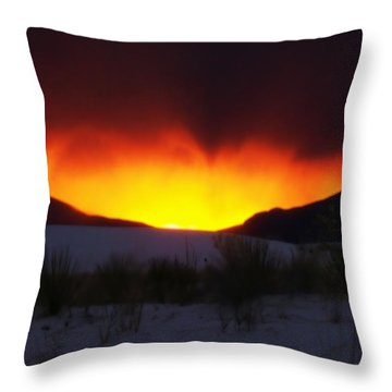 Sands Sunset  Throw Pillow