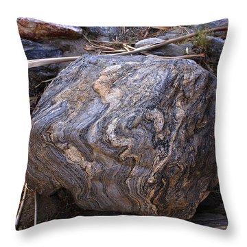 Sandstone Boulder Throw Pillow