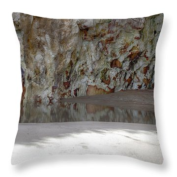 Sandstone Cave V2 Throw Pillow by Douglas Barnard