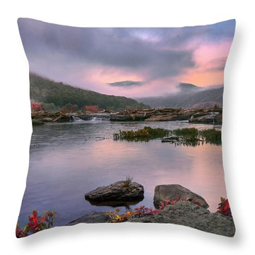 Sandstone Falls At Dawn Throw Pillow