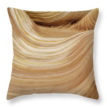 Sandstone Lines Throw Pillow