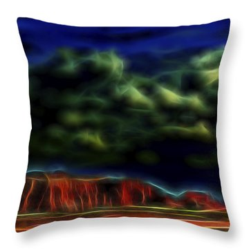 Throw Pillow featuring the digital art Sandstone Monolith 1 by William Horden