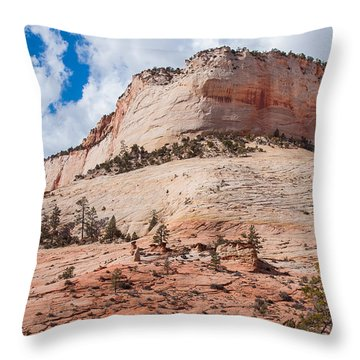 Throw Pillow featuring the photograph Sandstone Mountain by John M Bailey