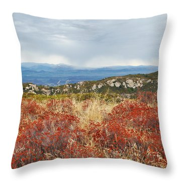 Sandstone Peak Fall Landscape Throw Pillow