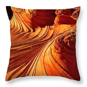 Sandstone Silhouette Throw Pillow by Adam Jewell