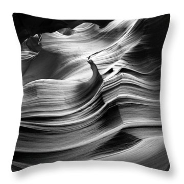 Sandstone Wave Throw Pillow