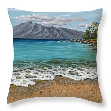 Throw Pillow featuring the painting Sandy Beach by Darice Machel McGuire