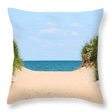 Sandy Beach Throw Pillow by Heather Allen