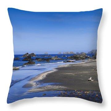 Sandy Beach On The North Coast Throw Pillow