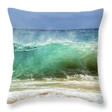 Sandy Beach Shorebreak 1 Throw Pillow