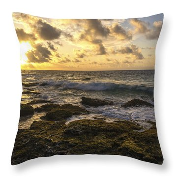 Sandy Beach Sunrise 11 - Oahu Hawaii Throw Pillow by Brian Harig
