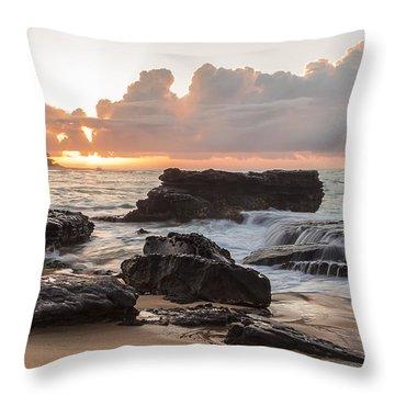 Sandy Beach Sunrise 6 Throw Pillow