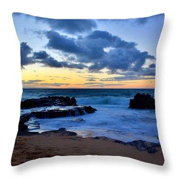 Sandy Beach Sunrise 6 - Oahu Hawaii Throw Pillow by Brian Harig