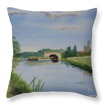 Throw Pillow featuring the painting Sandy Bridge by Martin Howard