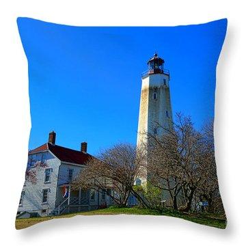 Sandy Hook Lighthouse Throw Pillows Fine Art America