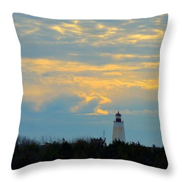 Throw Pillow featuring the photograph Sandy Hook Twilight by Steven Richman