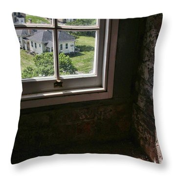 Sandy Hook View From The Lighthouse Throw Pillow by Gary Slawsky