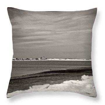 Sandy Neck Winter 2015 Throw Pillow
